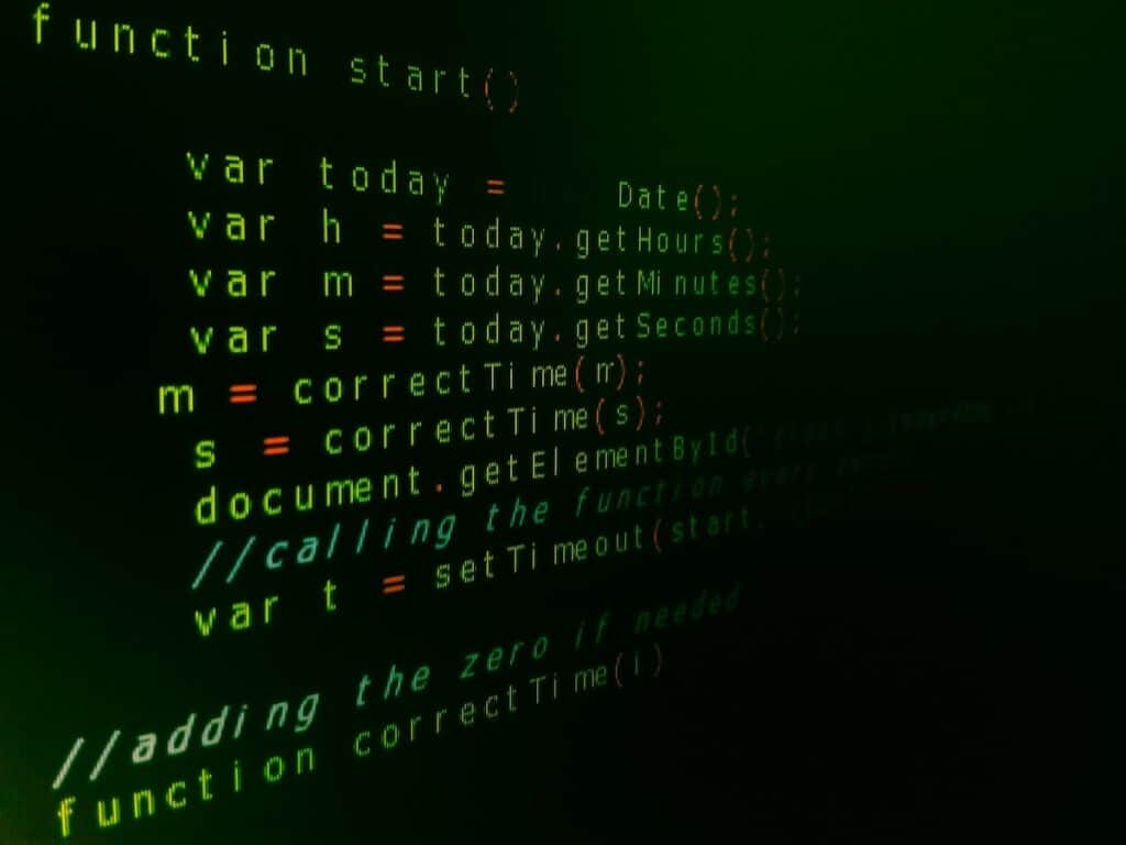 Coding text in a programming language