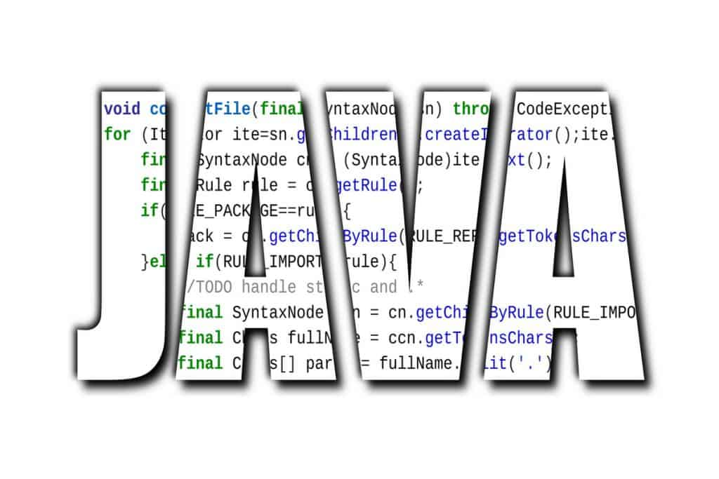 Lines of code written in a white stripe of Java software engineering best practices